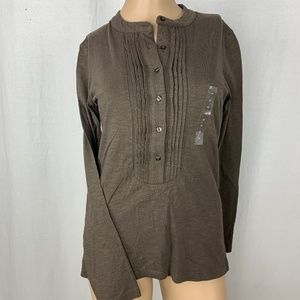 Gap Womens Long Sleeve Top Size XS Pleated NEW